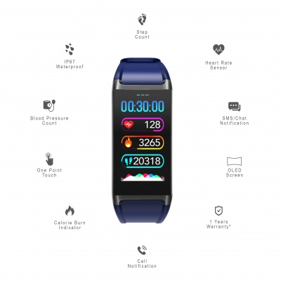 LCARE Mambo Fitness Band with HR BP Sleep tracker