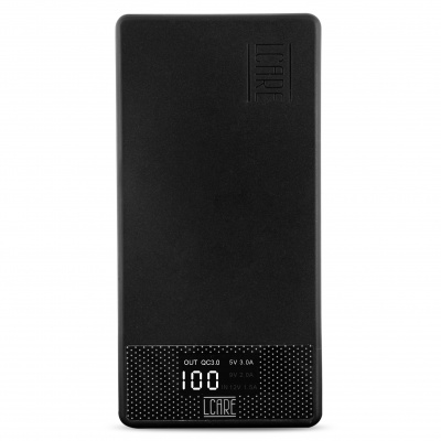 LCARE 18W Quick Charge Power Bank 10000mAh with LED Display (Black) + Free Micro USB Cable